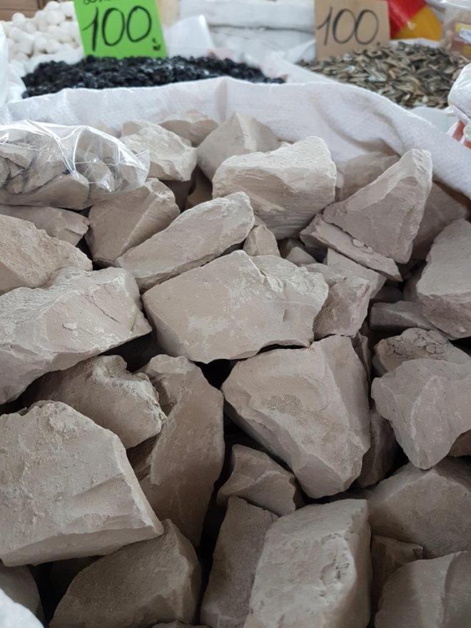 Gulboton - when you crave minerals. Osh Bazaar. Food tour in Bishkek, Kyrgyzstan