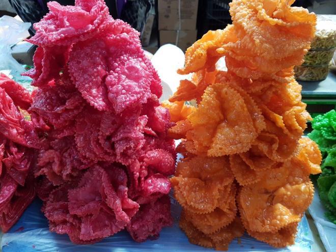Hvorost - sweets. Osh Bazaar. Food tour in Bishkek, Kyrgyzstan