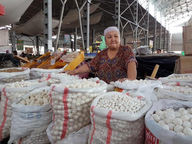 Kurut. Osh Bazaar. Food tour in Bishkek, Kyrgyzstan