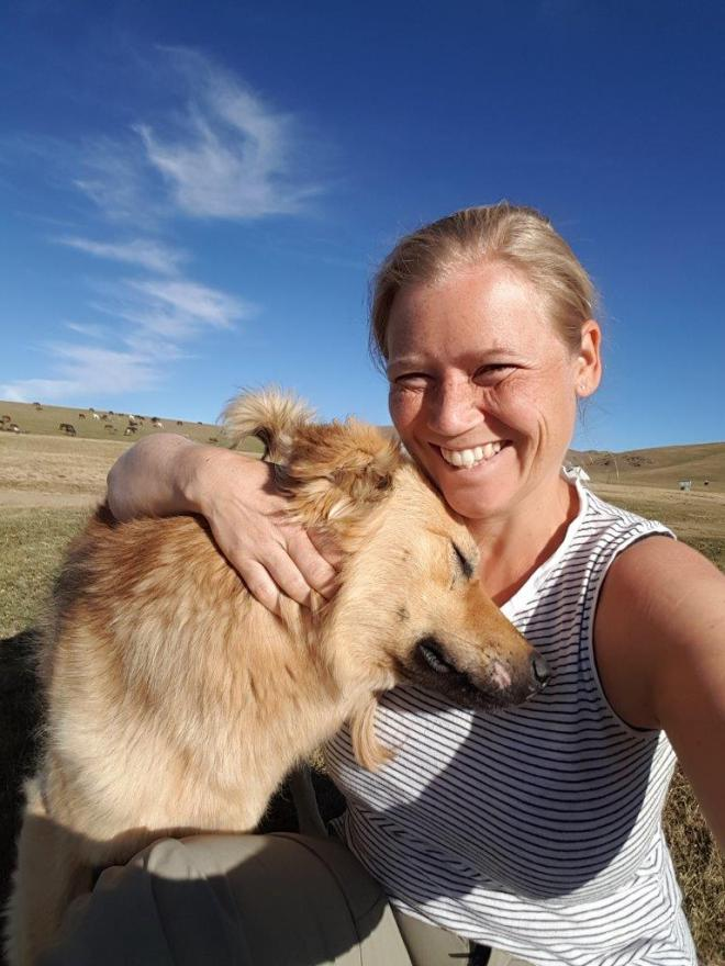 My new friend. Three day horse-riding trip to Song Kul, Kyrgyzstan.