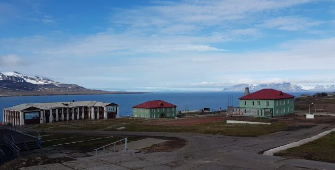 Lenin's view in Barentsburg, Svalbard, Norway.