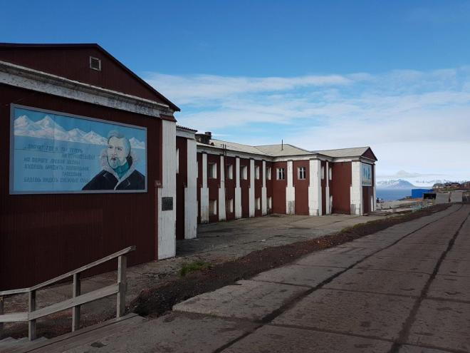 The old canteen in Barentsburg, Svalbard, Norway.